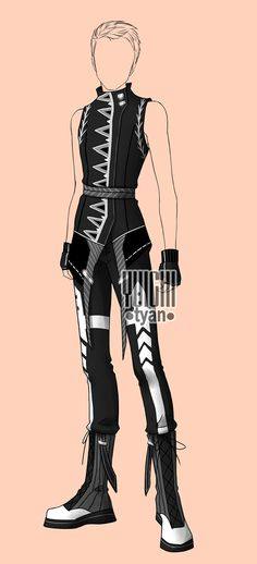 [closed] Auction BW Outfit male 26 by YuiChi-tyan