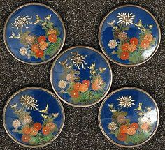 an exquisite set of Japanese Enamel Buttons