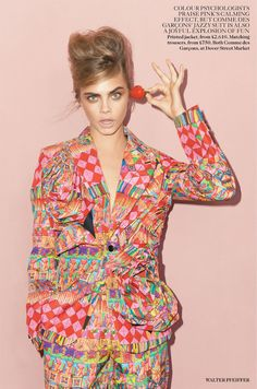 Cara Delevingne for Vogue UK September 2013 by Walter Pfeiffer | The Fashionography