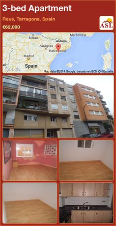 3-bed Apartment in Reus, Tarragona, Spain ►€62,000 #PropertyForSaleInSpain