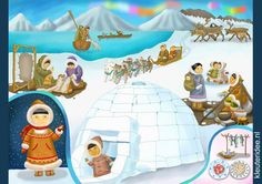 Interactieve praatplaat thema Noordpool & Zuidpool voor kleuters by juf Petra , kleuteridee. Winter Kids, Winter Sports, Polo Norte, Kids Around The World, Arctic Animals, Thinking Day, North Pole, Kids Education, In Kindergarten