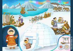 Praatplaat Noordpool voor kleuters, kleuteridee.nl, free printable.