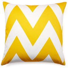 Chevron 20x20 Outdoor Pillow, Yellow