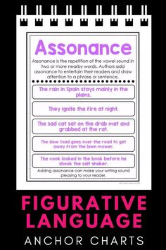 These figurative language anchor charts will help you teach your 4th and 5th grade students all the different types of figurative language. With anchor charts for similes, metaphors, hyperbole, personification, and more, your students will quickly understand the difference between each type, and you'll save tons of time not having to create your anchor charts. English Grammar Worksheets, English Vocabulary, Science Vocabulary, Science Lessons, English Writing Skills, Learning English, Similes And Metaphors, Reading Notes, Cursive Alphabet