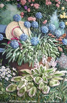 Silk Embroidery Art Vietnam Silk Ribbon Embroidery Kits For Sale Rose Embroidery, Silk Ribbon Embroidery, Embroidery Stitches, Embroidery Patterns, Embroidery Bracelets, Japanese Embroidery, Cross Stitches, Garden Embroidery, Embroidery Books