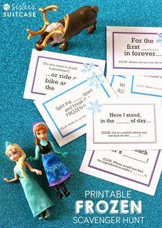 Frozen Scavenger Hunt Free Printable