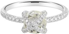 Embrace ring featuring a 2.10ct rough diamond accented with 0.38cts of micro pavé diamonds in 18k...