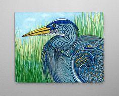 Great Blue Heron Aluminum Wall Art