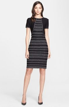 St. John Collection Dot Dash Knit Dress available at #Nordstrom