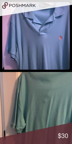 Men's Turquoise short sleeve Polo size Lg Good shape, no stains Polo Shirts Polos
