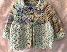 niños tamaño de 1 a 2 suéter ganchillo a mano
