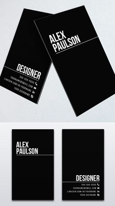 Black Business Card Design #branding #businesscardtemplates #businesscards #visitingcard