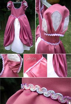 All the pretty pink and rose, and now sparkle, of the Ariel dress! Skirts always look better with someone wearing them.