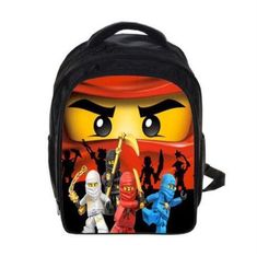 bc7b89a0c5ea1 Backpack Kids Boys School Bag Cartoon Ninja Trooper Army Hero Figure New  Design (eBay Link