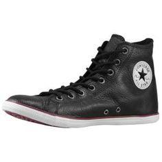 hot sale online 56d93 1c6de Converse All Star Slim Leather - Black whoa PP Converse Slim, Converse  Leather Shoes,