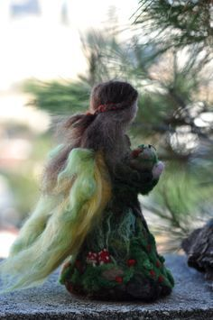 Needle felted Waldorf doll. Forest Fairy