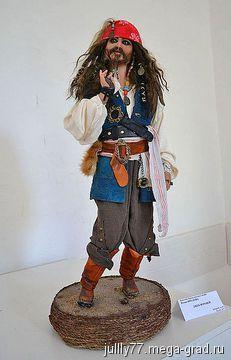 пират Джек Воробей - полимерная глина, портретная кукла. МегаГрад - online выставка-продажа авторской ручной работы