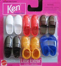1997 Barbie Ken Little EXTRAS Cool Shoes Boots 1997 Arcotoys Mattel | eBay