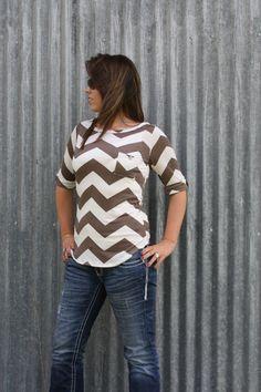 The Texas Cowgirl - Mocha Chevron Zig Zag Shirt, (http://www.thetexascowgirl.com/mocha-chevron-zig-zag-shirt/)