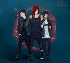Digital Illustrations by Kyoux// looks like something I'll see for a jpop group<< yas Character Bank, Character Concept, Character Design, Boys Anime, Hot Anime Guys, Fantasy Male, Portrait Illustration, Digital Illustration, Manga Art