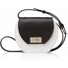 Joanna Maxham - Saturday Mini Bag White & Black found on Polyvore featuring bags, handbags, shoulder bags, mini crossbody purse, purse crossbody, handbags shoulder bags, shoulder handbags and handbags crossbody