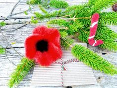 Xmas Gifts, Hair Pins, Poppy, Seeds, Frozen, Felt, Brooch, Boho, Christmas Ornaments