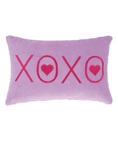 Loving this Purple 'XOXO' Throw Pillow on #zulily! #zulilyfinds