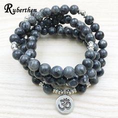 Labradorite Wrap Bracelet Handmade Necklace Mala Yoga Jewelry Buddha Bracelet #Handmade #Wrap