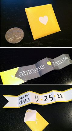 Mini penant save the date by joliejolie design, via Flickr