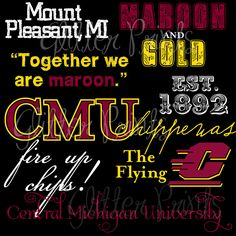Hey CMU friends/alumni--you can purchase the .pdf file for this print for $7.00 on Etsy!