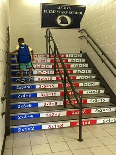 These steps at an elementary school are awesome!