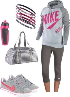 """Nike stuff"" by theyesse ❤ liked on Polyvore"