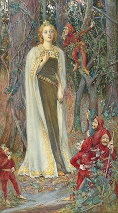 "Henry Meynell Rheam (British, 1859-1920), ""Snow White"" by sofi01, via Flickr"