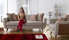 If you're looking for a high design statement range that would be a focal point in any room then the Jive range is the one for you. Leather Fabric, Leather Sofa, Higher Design, Retro Chic, Fabric Sofa, Sofa Bed, Sofas, Love Seat, Furniture Design
