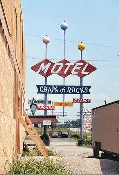 Chain of Rocks Motel, Route 66 - near Granite City, Illinois