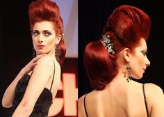 """ModernSalon.com: """"Photo Album #1 of Hair Styles Seen at America's Beauty Show!"""" - Pumped up with a vintage flair from CHI (Model: Chiara Potenza; Hair: Leonel Rodriguez)"""