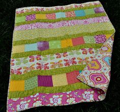 another pic of the quilt i am going to make for the girls...in brown, pink and green