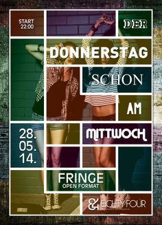 Der Donnerstag schon am Mittwoch, eightyFour #flyer #design