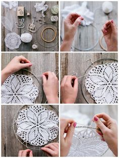 Homemade Dream Catchers String Art Crafts To Make Arts And Crafts Diy Crafts Doily Dream Catchers Making Dream Catchers Diy Dream Catcher Tutorial Diy chakras rainbow dream catcher hoop diameter dreamcatcher hand made boho dreamcatcher boho decor Doily Dream Catchers, Dream Catcher Craft, Dream Catcher Boho, Diy Tumblr, Doilies Crafts, Lace Doilies, Dreamcatcher Crochet, Diy Dream Catcher Tutorial, Doily Art