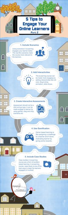 5 Tips to Engage Your Online Learners : - An Infographic Learning For Life, Learning Theory, Learning Resources, Teaching Skills, Flipped Classroom, Instructional Design, Blended Learning, Educational Technology, Infographics