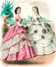 Mid-to-late 1860s, CharmaineZoe's Marvelous Melange Flickr.