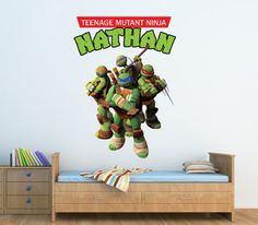 Personalized-Teenage-Mutant-Ninja-Turtles-Wall-Decal-Removable-and-Replaceable