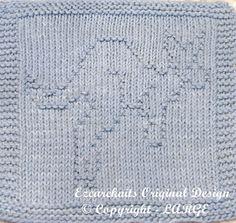 Knitting Cloth Pattern  SKIPPY  PDF by ezcareknits on Etsy