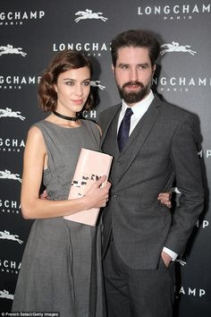 Alexa Chung with her long-term actor pal Jack Guinness - Longchamp's Light On boutique store launch in Paris. (December 4, 2014)