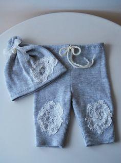 Newborn Upcycled Set Newborn Pants Prop & by LovelyBabyPhotoProps