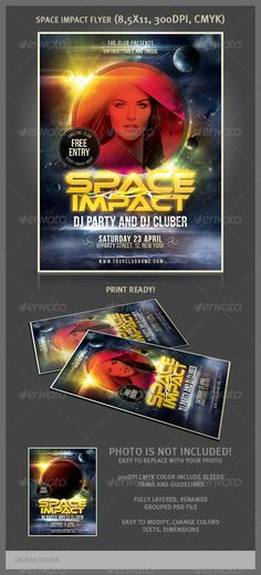 Space Impact Party Flyer