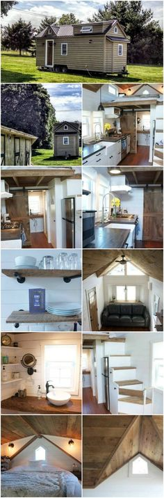 Live in a Modern Farmhouse That You Can Take on the Road! {12 Photos} We don't know about you, but we dream about living in an old farmhouse that's full of character and charm! But then we also dream about the perfect tiny house that we can travel the world in. Well, thanks to Liberation Tiny Homes, we don't have to choose! Meet the Modern Farmhouse!