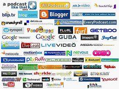 Media logos names social and A