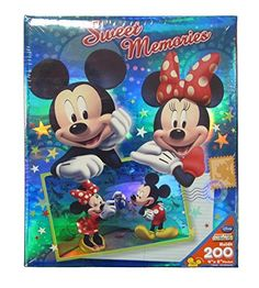 Disney Mickey Minnie Mouse Sweet Memories Postcard 4X6 200 Page Photo Album -- Continue to the product at the image link.Note:It is affiliate link to Amazon.