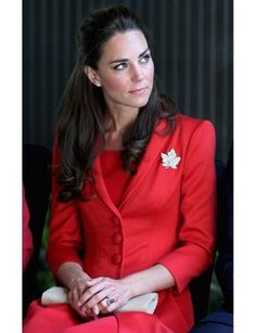 Kate wore this suit to a reception at the Calgary Zoo. Yeah, that's right—a zoo.